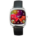 2_Shiny_Roses-77215 Square Metal Watch