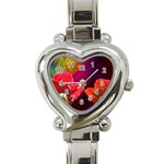 2_Shiny_Roses-77215 Heart Italian Charm Watch