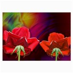 2_Shiny_Roses-77215 Glasses Cloth (Large, Two Sides)