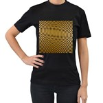 Easy%20rings%201-212003 Women s Black T-Shirt (Two Sides)