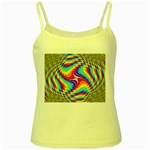 Disco-Party-Style-413640 Yellow Spaghetti Tank
