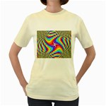 Disco-Party-Style-413640 Women s Yellow T-Shirt