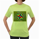 Disco-Party-Style-413640 Women s Green T-Shirt