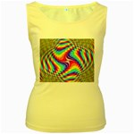 Disco-Party-Style-413640 Women s Yellow Tank Top