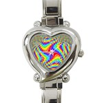 Disco-Party-Style-413640 Heart Italian Charm Watch