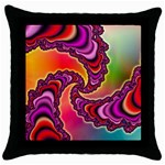 Cool_Fractal-818879 Throw Pillow Case (Black)