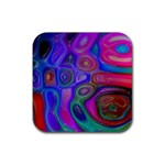 space-colors-2-988212 Rubber Square Coaster (4 pack)