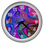 space-colors-2-988212 Wall Clock (Silver)
