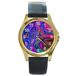 space-colors-2-988212 Round Gold Metal Watch