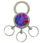 space-colors-2-988212 3-Ring Key Chain