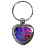 space-colors-2-988212 Key Chain (Heart)