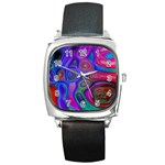 space-colors-2-988212 Square Metal Watch