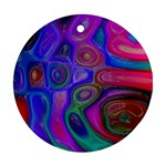 space-colors-2-988212 Round Ornament (Two Sides)