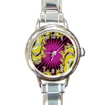 sonic_yellow_wallpaper-120357 Round Italian Charm Watch