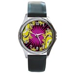 sonic_yellow_wallpaper-120357 Round Metal Watch