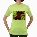 sonic_yellow_wallpaper-120357 Women s Green T-Shirt