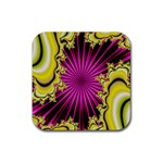 sonic_yellow_wallpaper-120357 Rubber Square Coaster (4 pack)