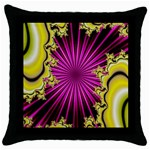 sonic_yellow_wallpaper-120357 Throw Pillow Case (Black)