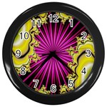 sonic_yellow_wallpaper-120357 Wall Clock (Black)