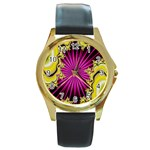 sonic_yellow_wallpaper-120357 Round Gold Metal Watch