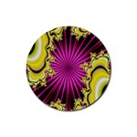 sonic_yellow_wallpaper-120357 Rubber Coaster (Round)