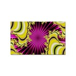 sonic_yellow_wallpaper-120357 Sticker (Rectangular)