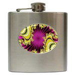sonic_yellow_wallpaper-120357 Hip Flask (6 oz)