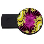 sonic_yellow_wallpaper-120357 USB Flash Drive Round (2 GB)