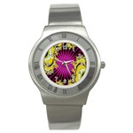 sonic_yellow_wallpaper-120357 Stainless Steel Watch