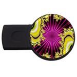 sonic_yellow_wallpaper-120357 USB Flash Drive Round (4 GB)