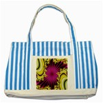 sonic_yellow_wallpaper-120357 Striped Blue Tote Bag