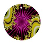 sonic_yellow_wallpaper-120357 Round Ornament (Two Sides)
