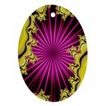 sonic_yellow_wallpaper-120357 Oval Ornament (Two Sides)
