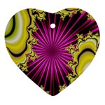 sonic_yellow_wallpaper-120357 Heart Ornament (Two Sides)