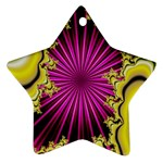 sonic_yellow_wallpaper-120357 Star Ornament (Two Sides)