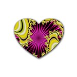 sonic_yellow_wallpaper-120357 Heart Coaster (4 pack)