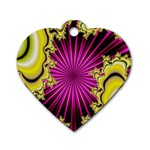 sonic_yellow_wallpaper-120357 Dog Tag Heart (One Side)