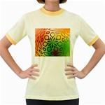 Alternative%20Flower-346872 Women s Fitted Ringer T-Shirt