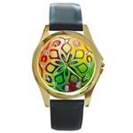 Alternative%20Flower-346872 Round Gold Metal Watch
