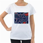 fractal_supiart_wallpaper-816331 Maternity White T-Shirt