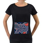fractal_supiart_wallpaper-816331 Maternity Black T-Shirt