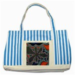 fractal_supiart_wallpaper-816331 Striped Blue Tote Bag