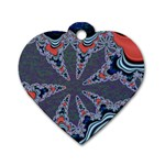 fractal_supiart_wallpaper-816331 Dog Tag Heart (One Side)