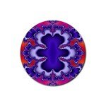 fractal_wallpaper-212207 Rubber Round Coaster (4 pack)
