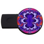 fractal_wallpaper-212207 USB Flash Drive Round (1 GB)