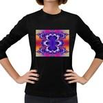 fractal_wallpaper-212207 Women s Long Sleeve Dark T-Shirt