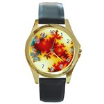 goglow-153133 Round Gold Metal Watch