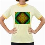Bobo-660847 Women s Fitted Ringer T-Shirt