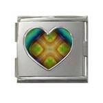 Bobo-660847 Mega Link Heart Italian Charm (18mm)
