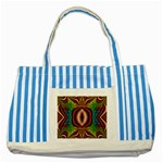 Toxic_Wave-838095 Striped Blue Tote Bag